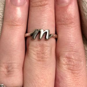 james avery jewelry james avery script initial ring letter m